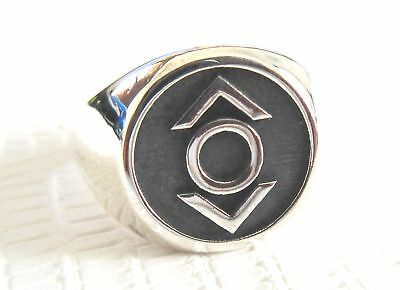 SOLID SILVER 925 Indigo Tribe Green Lantern Corp RING