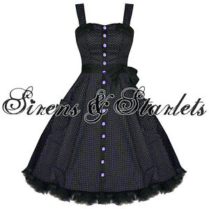 HELL-BUNNY-GERY-PURPLE-POLKA-DOT-RETRO-PINUP-PROM-DRESS