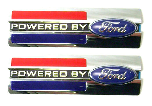 Brand New PAIR of Powered by Ford Shelby GT Emblems Badges 2007-2013