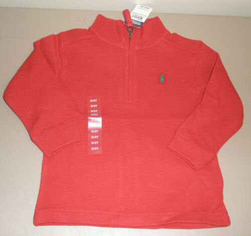 Polo Ralph Lauren Baby Boys Green Brown Red Black Cotton Sweater Toddler Size 3T