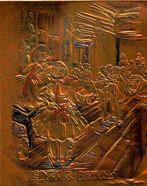 """""""DEGAS"""" by RUTH FREEMAN ETCHED COPPER FOIL 8""""X10"""""""