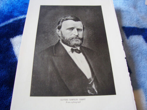 General Ulysses S Grant symbol of Union victory 1911 Print