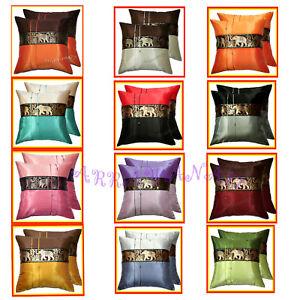 2 Thai Silk Decorative Pillow Cover Sofa Elephant EB_O1