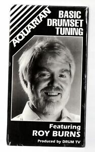 BASIC-DRUMSET-TUNING-by-ROY-BURNS-Sealed-VHS