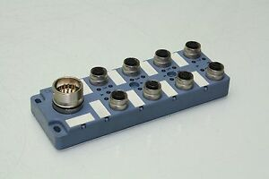 Escha 8024412 Actuator/Senso<wbr/>r Junction Block 8 Port M12 Sensor Interconnect