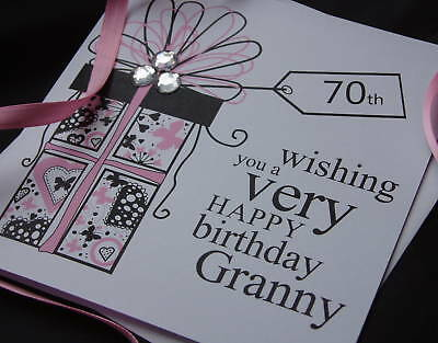 Personalised Handmade Birthday Gift Box Card