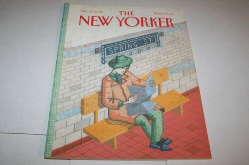 10171988 NEW YORKER magazine SUBWAY STATION