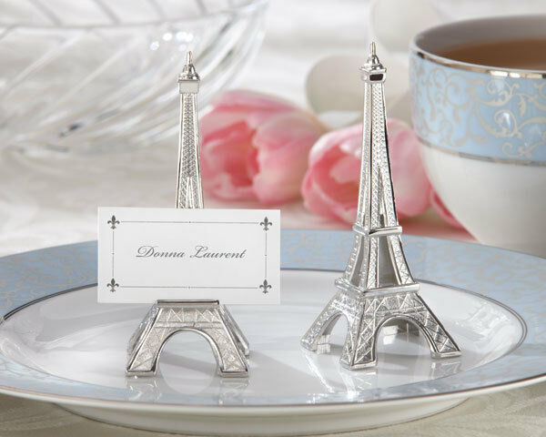12 Eiffel Tower Paris Wedding Place Card Holders Favors