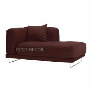 New ikea tylosand right chaise lounge cover slipcover everod dark red ebay - Ikea chaise lounge cover ...