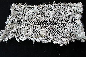 ANTIQUE-VICTORIAN-EDWARDIAN-HAND-EMBROIDERED-LACE-PCS
