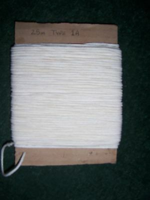 """50 Metre Cotton Braided Candle Wick - for 3/4"""" to 1.1/4"""" (18mm-32mm) (MBC-1E)"""