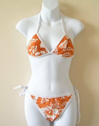 S /& M Women Beachwear Summer Batik Printed Top and Bottom Bikini Swimsuit