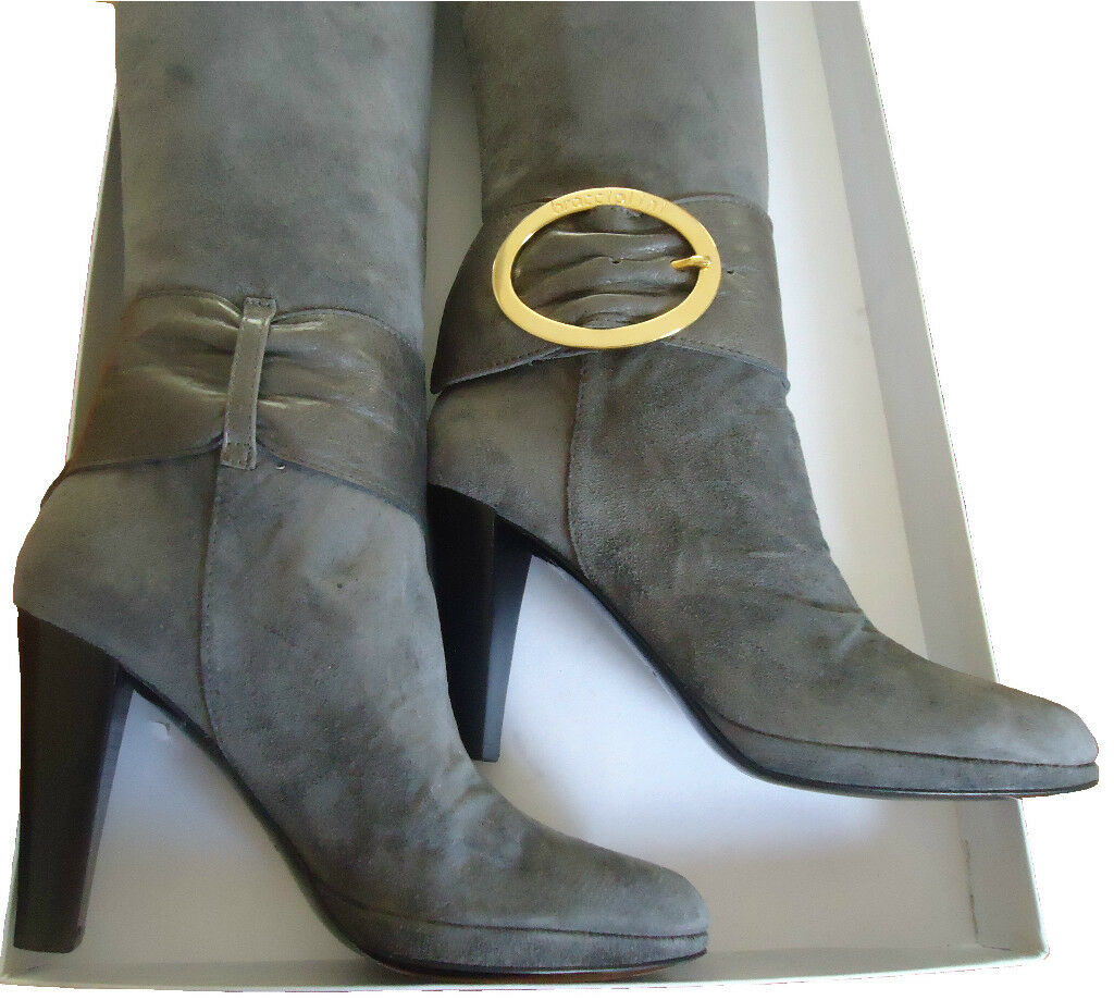 NIB Braccialini  Leather Suede Boots Size 7(US) or 37(EU)