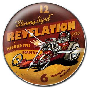 Eagle-Field-Stormy-Byrd-14-Vintage-Garage-Clock-In-Old-School-Nitro-Dragster