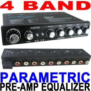 4-BAND-PRE-AMP-PARAMETRIC-EQUALIZER-EQ-W-Dual-Input-SUBWOOFER-CONTROL-NEW
