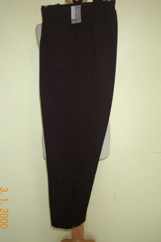 NEW LADIES WOMENS TROUSERS ELASTICATED BLACK BROWN NAVY GREY PLUS SIZE 18-24