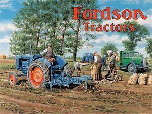 FORDSON-TRACTORS-aratura-GRANDE-INSEGNA-acciaio-400mm-x-300mm-OG