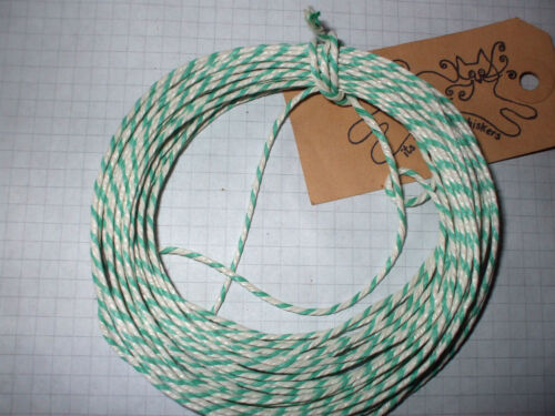 20mts Green//White  THICK BAKERS TWINE 2 x 10 mt Lengths scrapbooking gifts