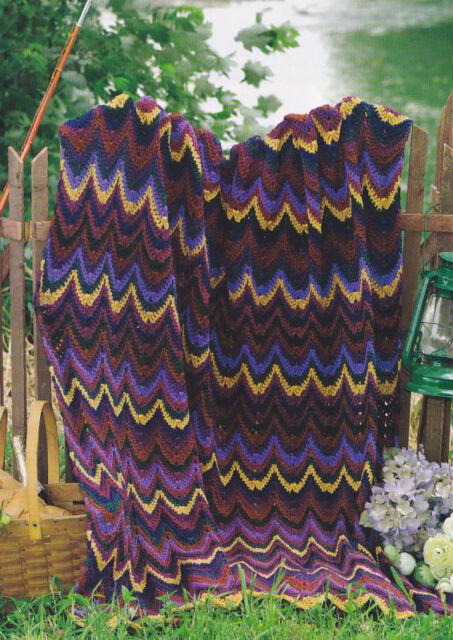 Crochet Pattern ~ DELIGHTFUL SCRAP BARGELLO AFGHAN ~ Instructions