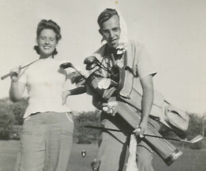 VINTAGE-GOLF-PINUP-TIGER-CADDIE-FUNNY-COUPLE-OLD-PHOTO