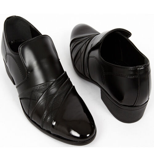 Milan Loafers Slip On Dress Casual Black Mens Shoes