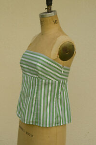 Anne-Taylor-Loft-Petites-Resort-Stripe-Strapless-Lined-Baby-Doll-Cami-Size-4P