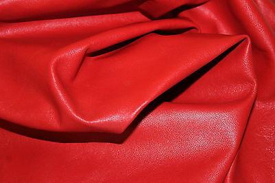 ITALIAN hides lambskin leather hide BEAUTIFUL RED  5sqf