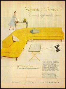 1957 Vintage Ad For Valentine Seaver Furniture 1177 Ebay