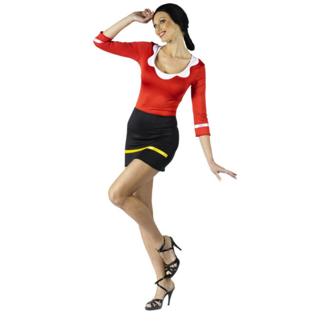 Adult Popeye the Sailor Man Sexy Olive Oyl Costume