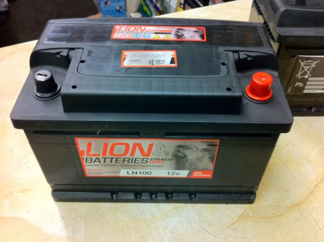 New LION OEM Heavy Duty Car Battery - Type 096 100 76ah 4 YEAR GUARANTEE 24HR