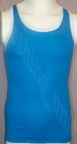 Mens Ribbed Vests Cotton Gym Top Vest Muscle 2 Colour