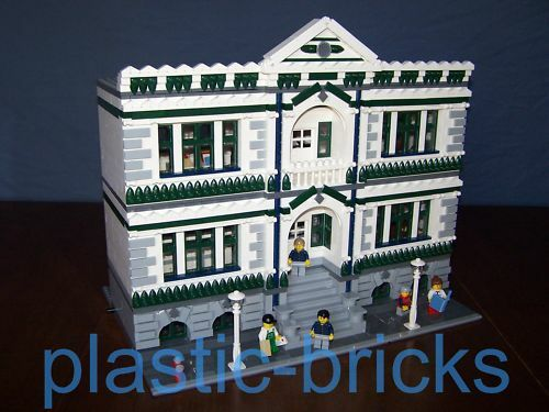 CITY POST & LIBRARY Custom Instruction Manual_10190_10185_Fits LEGO Modular Sets