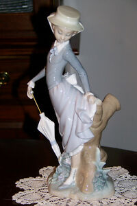 Lladro-Figurine-1974-1985-Young-Lady-in-Trouble-4912-Glazed-version