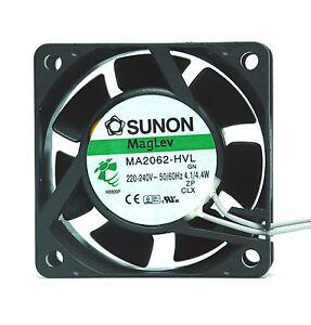 1pc-SUNON-AC-Fan-MagLev-MA2062-HVL-GN-AC220-240V-50-60Hz-4-1-4-4W-60x60x25mm-UL