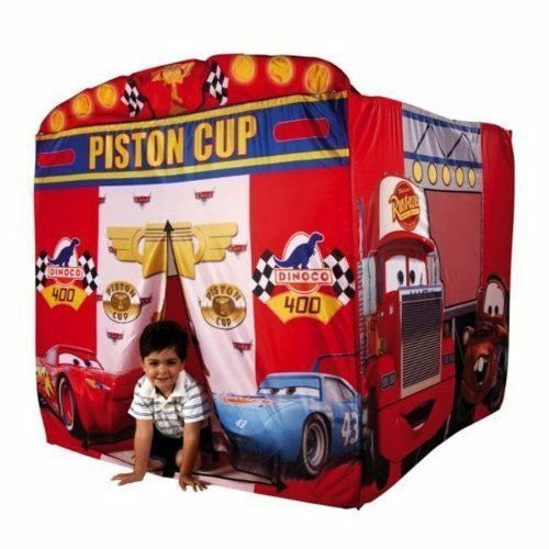 Pixar's Cars Play House Tent Cubby With Lights New