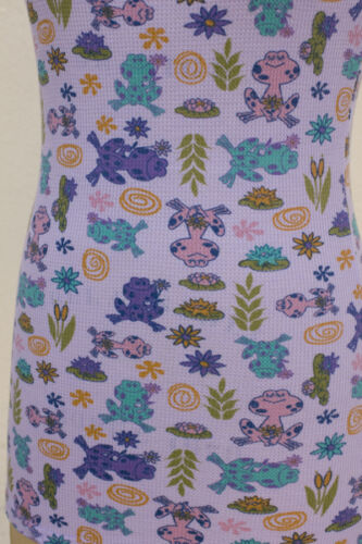 NWT Crafty Couture Thermal Tank Mini Dress Frogs Water Lillies Ferns Cute Small