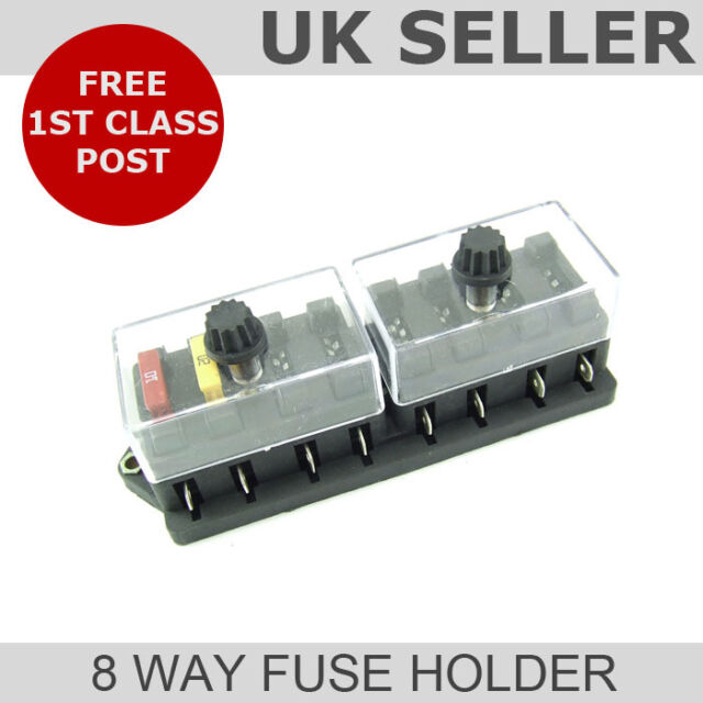 Blade Fuse Box (8 Way Universal Fuse Holder)