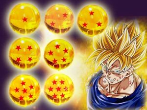 DRAGONBALL Z LIFE SIZE CRYSTAL DRAGON BALL COMPLETE SET  eBay