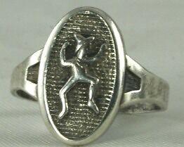 vintage sterling silver brownie girl scout ring ebay