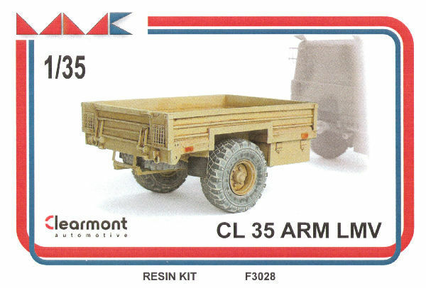 CL 35 ARM LMV (trailer for Iveco LMV) 1 35 resin