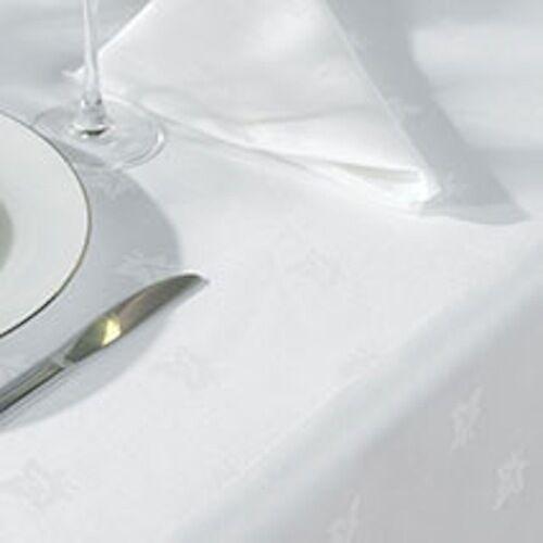 Large White Egyptian Cotton Ivy Leaf Damask Tablecloths
