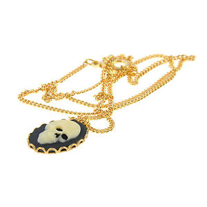 Small-Skull-Black-Cameo-Necklace-Gold-Plated-Chain-Cute