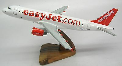 Airbus A-320 Easyjet A320 Airplane Desk Wood Model Replica Small Free Shipping