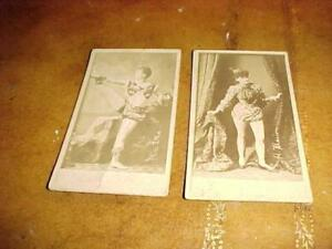 1880s Annonymous Actress Oversized Tobacco Card Lot