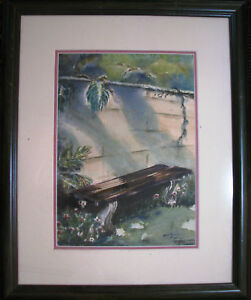 Australian-Artist-Hetty-Doyle-watercolour-titled-039-In-a-quiet-Spot-039