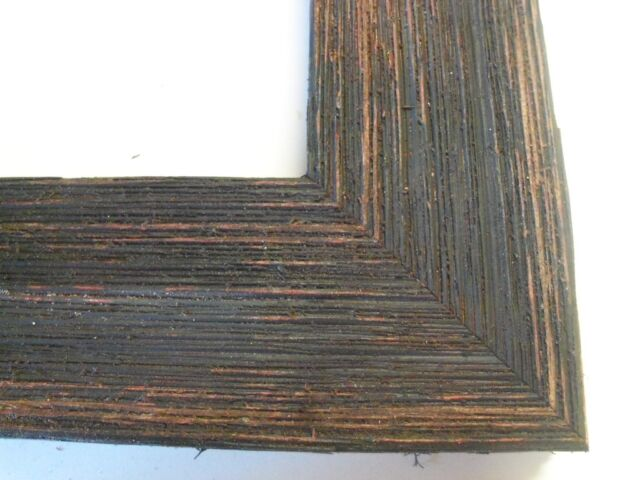 "2"" Wide Rustic Black/Brown Grungy Weathered Barnwood Picture Frame-Standard Size"