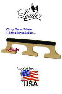 4-String-039-USA-Maples-039-Banjo-Bridge-3-Footed-by-Leader