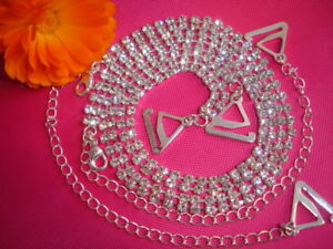 Double-Row-Clear-Diamonte-Crystal-Detachable-BRA-STRAPS-PROM-Party-Present-Gift
