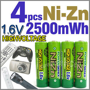 4-2500mWh-1-6V-AA-NiZn-Rechargeable-Battery-PowerGenix