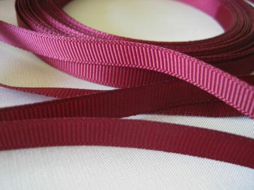 GROSGRAIN ruban 10mm 5m ou 10m couleurs diverses